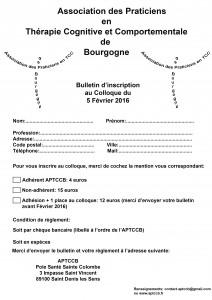 colloque APTCCB bulletin d'inscription